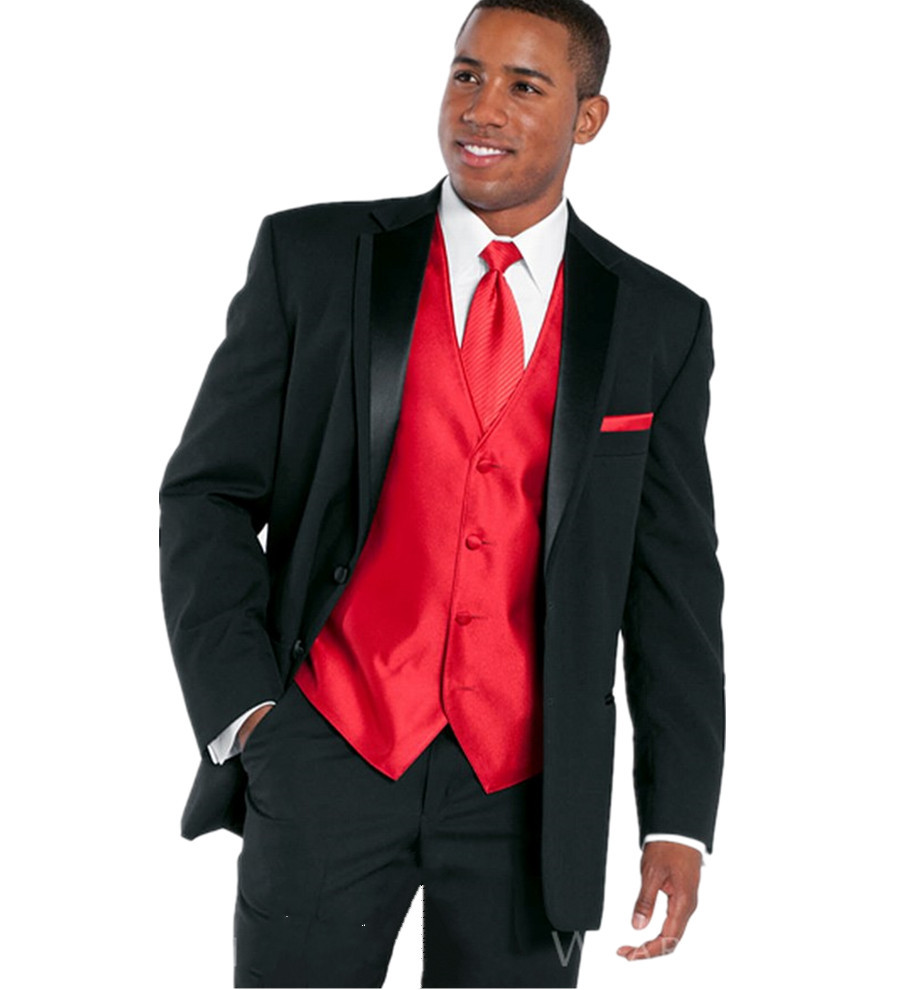 Pics For > All Black Suit With Red Bow Tie