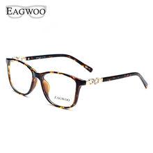 Ацетат TR90 женские очки полный обод Кристалл оптическая оправа рецепт простые прозрачные элегантные очки 22059 черепаха(Китай)