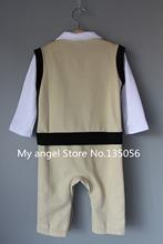 Retail 2015 100 cotton baby boy roupas de bebe Critical gentleman bow long sleeve baby boy