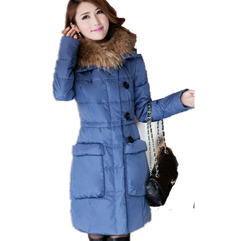 2015 Plus Size Long Winter Jacket Women Coat Thick Womens