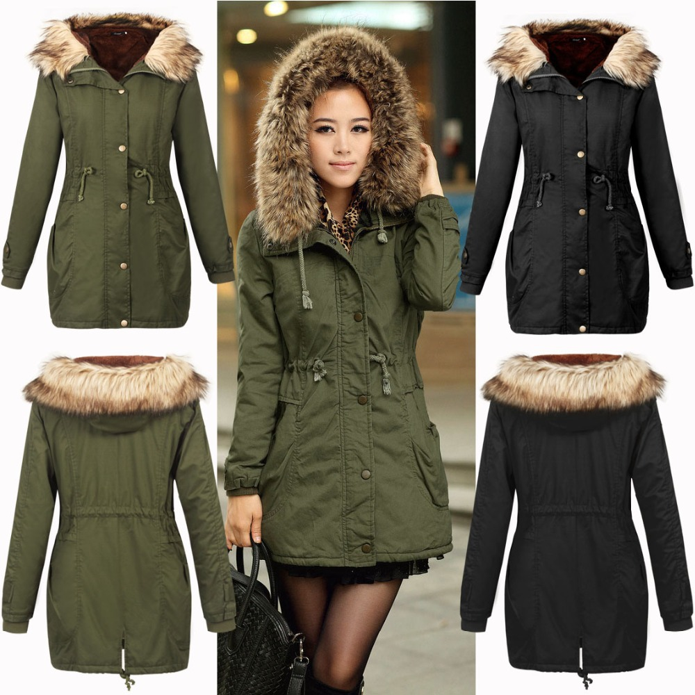 Green Parka Jacket With Fur Hood Jacket To