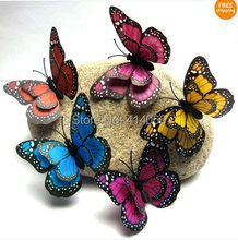 Hot& wholesale free shipping 12 pcs 3D wall stickers butterfly fridge magnet wedding decoration home decor