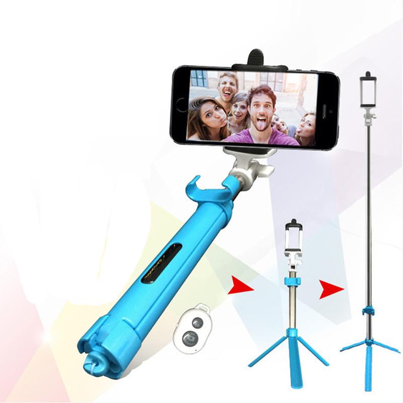 Bluetooth Затвора Селфи Палка с Штатив Выдвижная Самостоятельная Монопод для Камеры для Смартфонов
