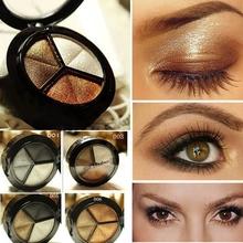 Kouřové profesionální oční stíny pro svůdný pohled – 3 odstíny na paletě