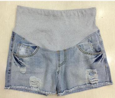 Горячая распродажа корейский лето одежда для беременных женщин в животе брюки для беременных джинсовые шорты SH-3032