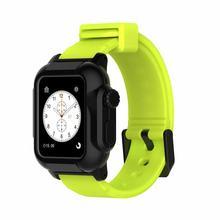 Роскошные IP68 Водонепроницаемый силиконовый ремешок для Apple Watch группа 42 мм Iwatch Sport плавательный группы с Защитный чехол серии 3 2(Китай)