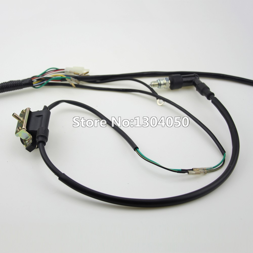 Full Kick Electric Start Engine Wiring Harness Loom Coil C7HSA SPARK Harga Wiring Harness W on