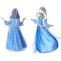 2015 Fancy Fever Dress For Girls Suit Vest Princess Dress Long Paragraph Gauze Cloak Sleeve Gauze