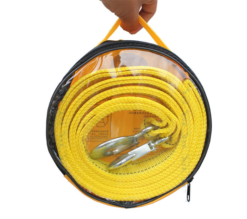 Автомобиль прицеп веревка автомобиль спасения веревка потянув веревка 5000 кг 4 метров двойной слой утолщение