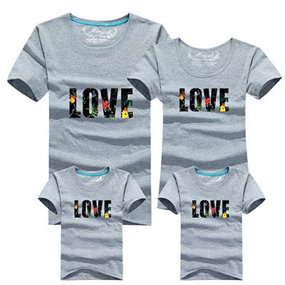 Новый горячей семьи соответствующие одежды хлопка футболку любовь шаблон хлопка семья взгляд футболка летние соответствия мать дочь одежда
