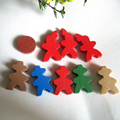 Free shipping Exclusive New 1 set pawn chess wooden game pieces educational toys Carcassonne game accessories