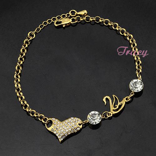 Gold Link Bracelet Womens: Aliexpress.com : Buy Womens Ladies 22K Yellow Solid Gold