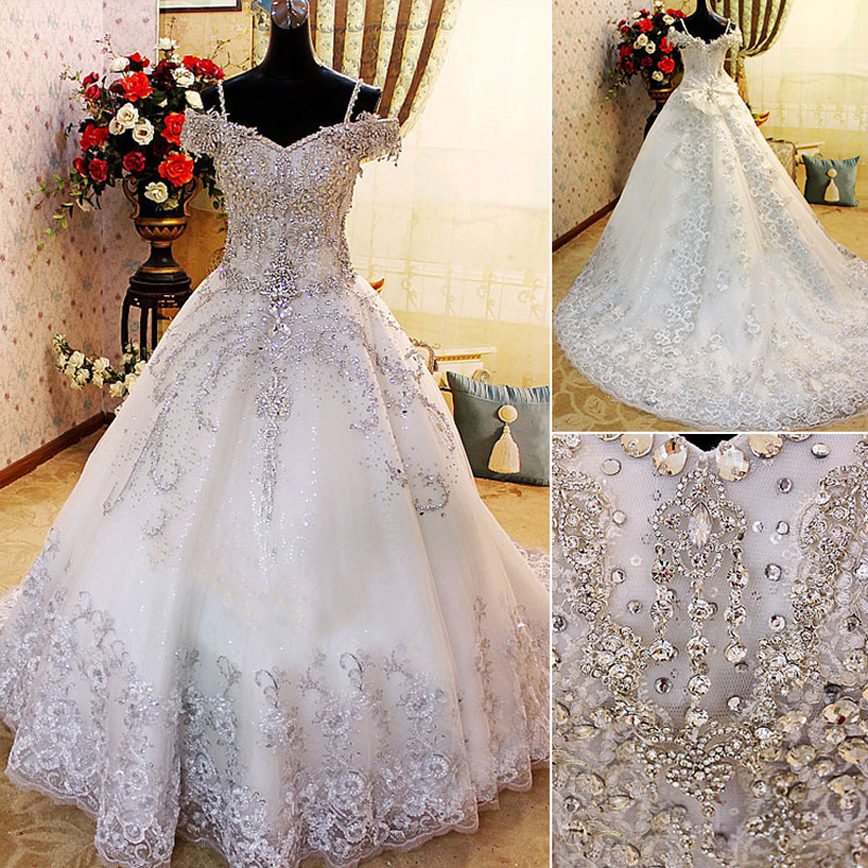 Ball Gown Wedding Dresses With Crystals