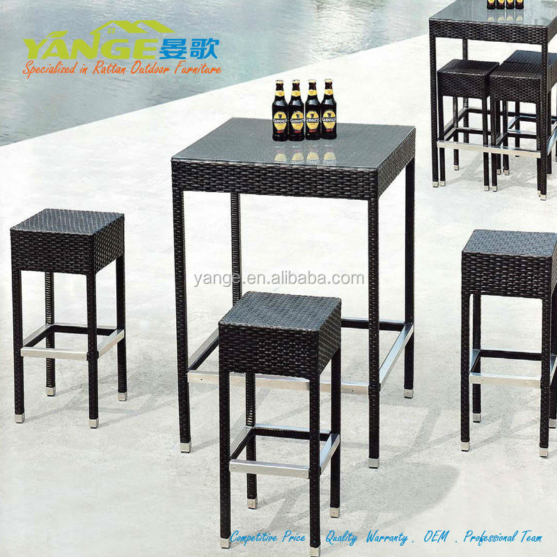 concurrentiel prix usine directement osier jardin rotin tabouret de bar balcon meubles ensemble. Black Bedroom Furniture Sets. Home Design Ideas