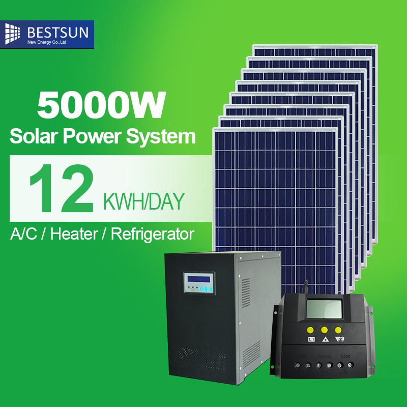 5kw 8kw 10kw High Efficency Solar Energy System Solar
