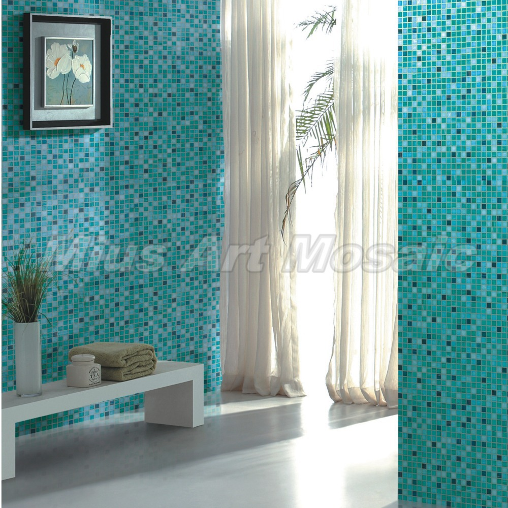 Glass Tiles In Bathroom: High Quality Aqua Recycled Glass Tiles Bathroom Mosaic