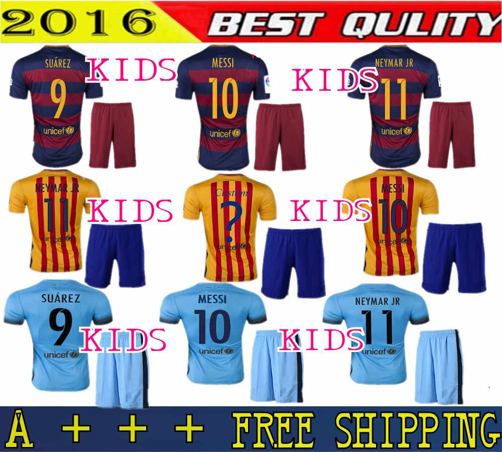 quality design de827 21c4b reduced soccer uniforms barcelona kids uniform acac5 a2d37