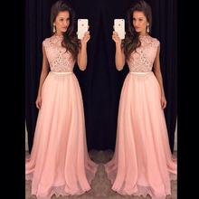 Fast Shipping Elegant Woman Lace Top Long Evening Dress Party Elegant Vestido De Festa Longo Cheap Prom Dresses 2015 New
