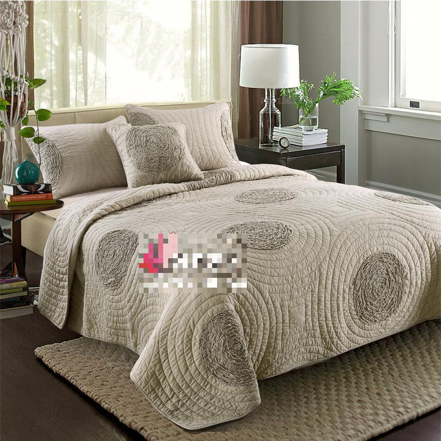 The new peached cotton quilting comforter bedding sets - King size bedroom comforter sets ...