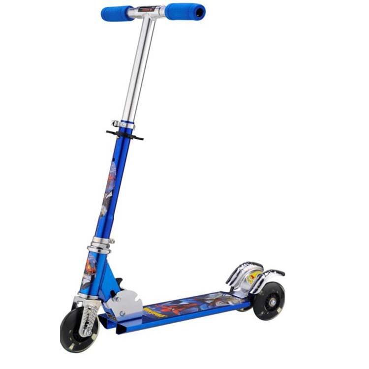 new children scooter adjustable flashing wheels kick. Black Bedroom Furniture Sets. Home Design Ideas