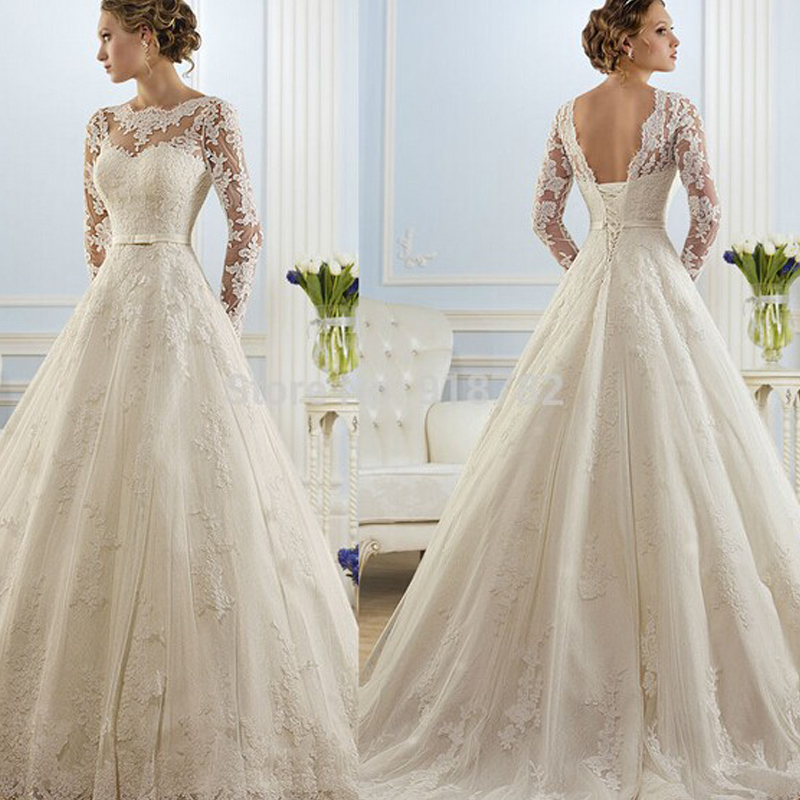 Wedding Gown For Sale: 2016 Hot Sale Beautiful Lace Wedding Dresses Cheap A Line