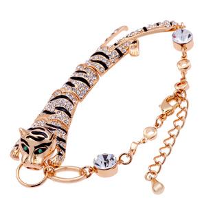 Моде модный европейский тигр серебра или позолоченный браслет для женщин - H002