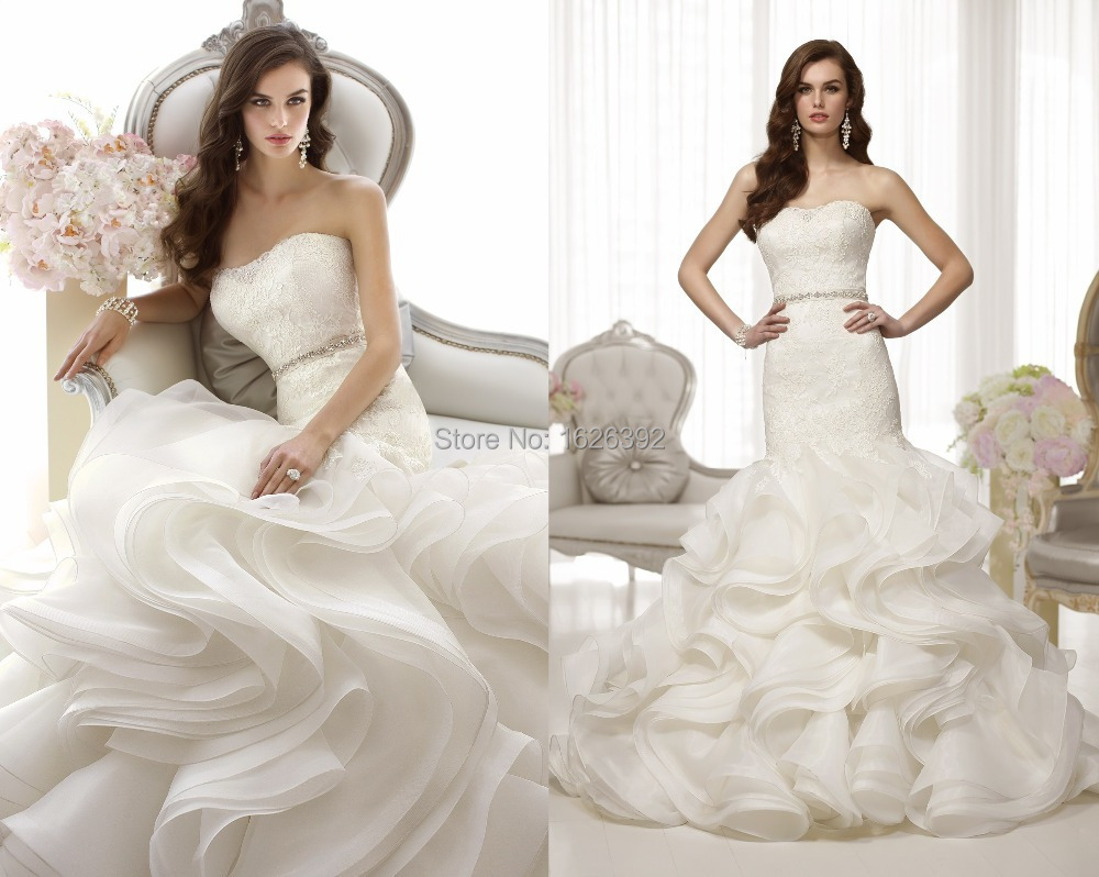 Fashion Stunning Gorgeous Mermaid Wedding Gowns Strapless