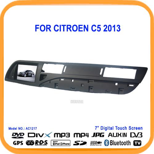 car dvd player gps for citroen c5 gps c5 2013 navigation with bluetooth rds radio fm tf usb. Black Bedroom Furniture Sets. Home Design Ideas
