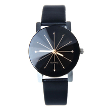 Attractive Top quality 1PC WoMen Quartz Dial Clock Leather Wrist Watch Round Case Wholesale & Free shipping  JY28