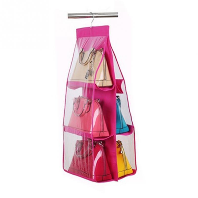 2019 6 Pocket Foldable Hanging Handbag Purse Bag Tidy Organizer For Wardrobe Closet Hanger From Smilemen 21 33 Dhgate Com