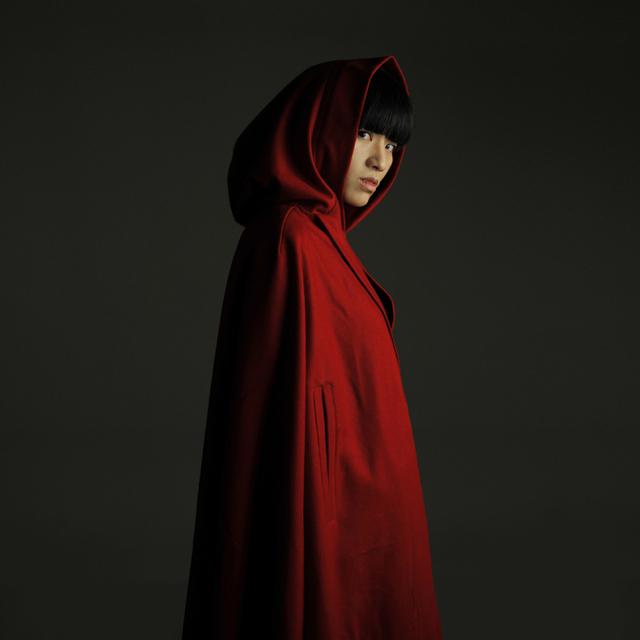 Nuevo diseño caperucita roja retro vintage capa de lana