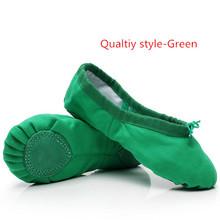 c2b3c19ac7129 Pink Blue Rose Red Black White Green Flesh Ballet Shoes for Girl Woman Yoga  Zapatos De