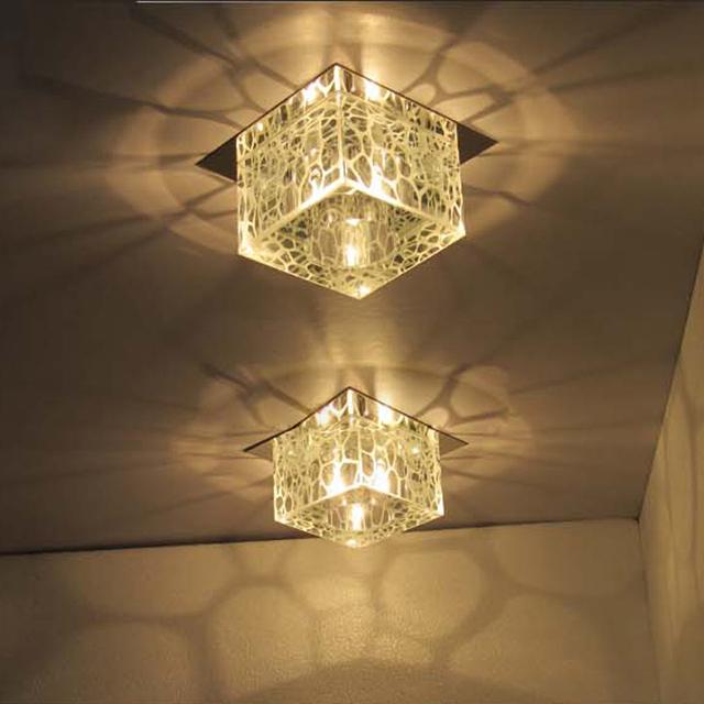 acheter moderne 5 carr cube d 39 eau lampes de plafond couloir encastr. Black Bedroom Furniture Sets. Home Design Ideas