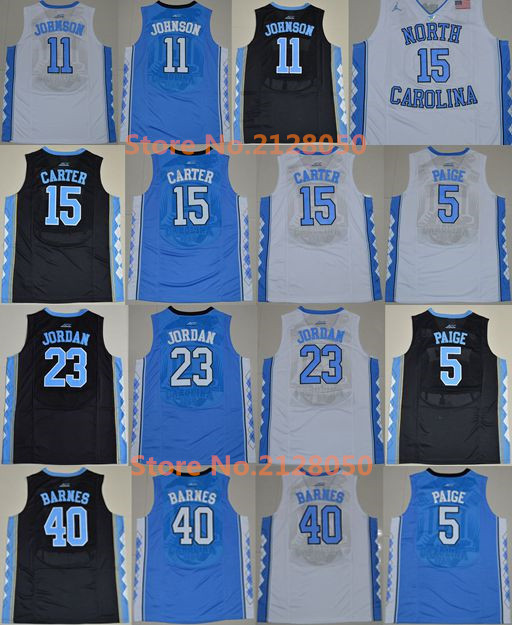 72f02f50c3c ... North North Carolina Vince Carter Jersey: North Carolina Tar Heels 5  Marcus Paige 11 Brice Johnson