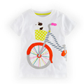 2016 Special Offer Fashion Style Summer Children s Baby Boys Girls T Shirt Cartoon Bicycle Puppy