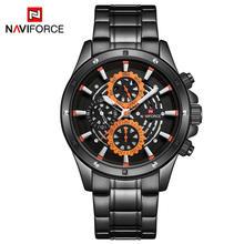 Часы Reloje NAVIFORCE мужские, стальные, автоматические, кварцевые, водонепроницаемые, спортивные(China)