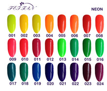 Free shipping 6 piece of VEN Modern Neon Color Led UV Gel Nail Polish 15ml 24