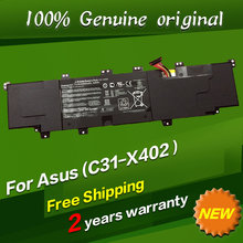 Free shipping C31-X402 Original laptop Battery For Asus VivoBook S300CA S400 S400E S400CA S500CA 11.1V 44WH