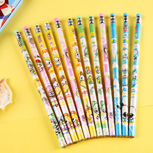2015 kawaii Cute cartoon pattern pencil Tape rubber, caneta child student pens school supplies kalem hot selling