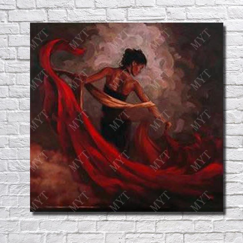 Sexy Dressing Danse Femme Espagnol Danseur Figure Mur Art
