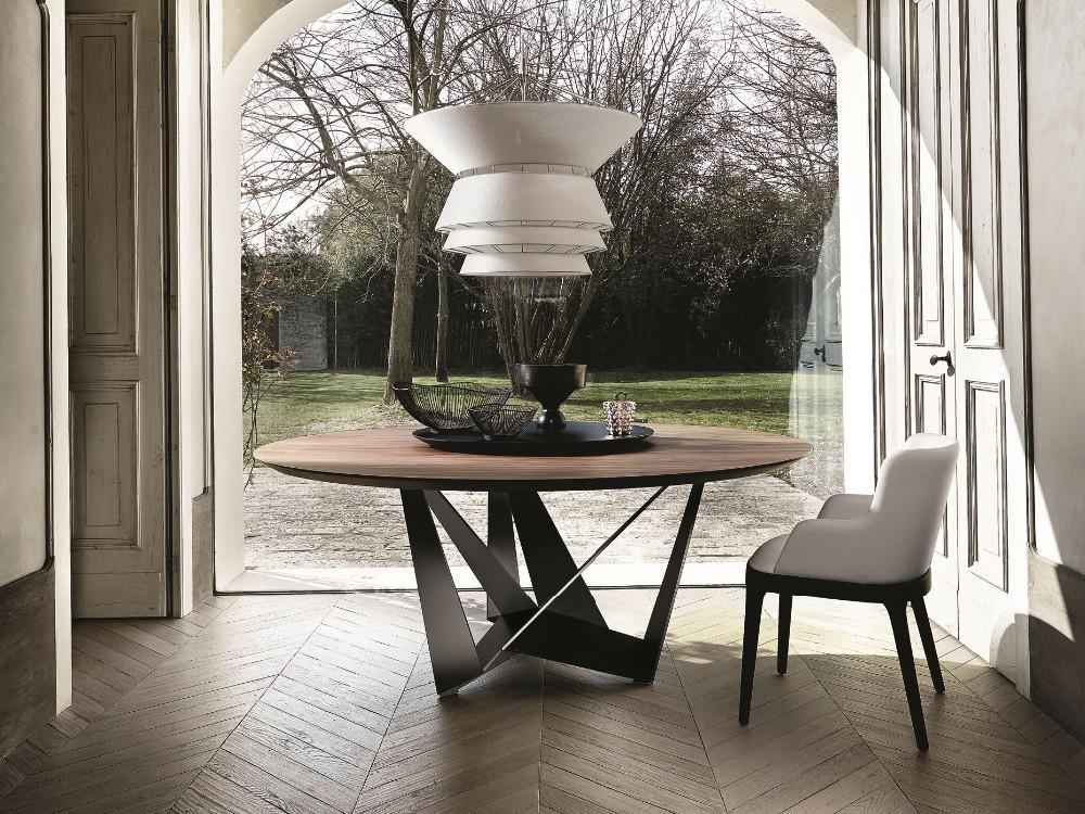 estilo de lazer conjunto de sala de jantar mesa redonda moderna moblia da sala de jantar