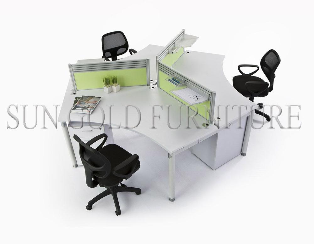 rond type moderne bureau poste de travail pour 4 personnes sz ws470 cloison de bureau id de. Black Bedroom Furniture Sets. Home Design Ideas