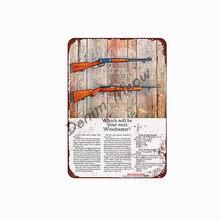 Винтажная предупреждающая табличка с пистолетом Остерегайтесь владельца металлических жестяных вывесок потертый шикарный настенный худо...(Китай)