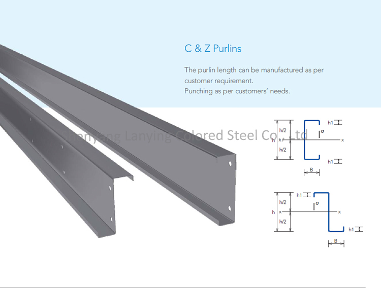 Steel Structure Building Material Section Steel Z Purlin