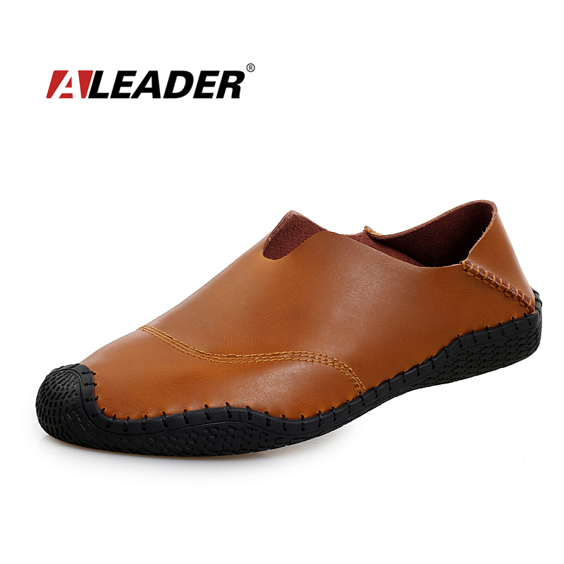 Aleader Casual Genuine Leather Mens Loafers Shoes 2015 ...