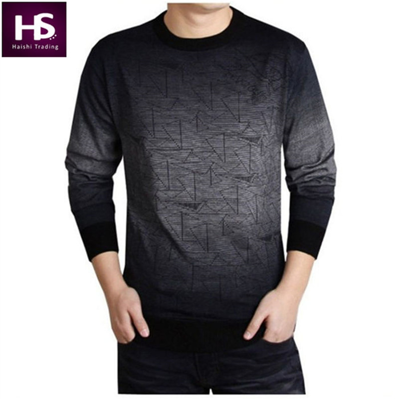 Cashmere Sweater Men 2016 Brand Clothing Mens Sweaters Fashion Print Hang Pye Casual Shirt Wool Pullover