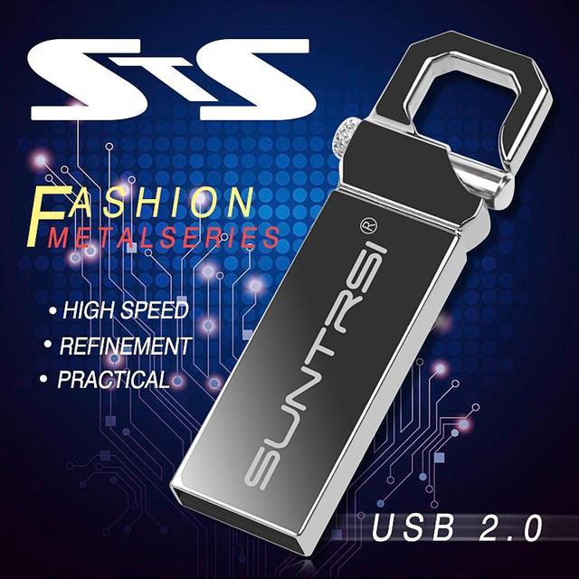 Suntrsi USB Flash Drive Metal Pendrive High Speed USB Stick 32GB Pen Drive Real Capacity 16GB USB Flash Free Shipping