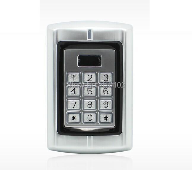 10pcs Fobkey חינם +RFID גישה בקר עם עיצוב מתכת דלת אחת להם תעודת הזהות 125KHZ עמיד למים ביצועים טובים