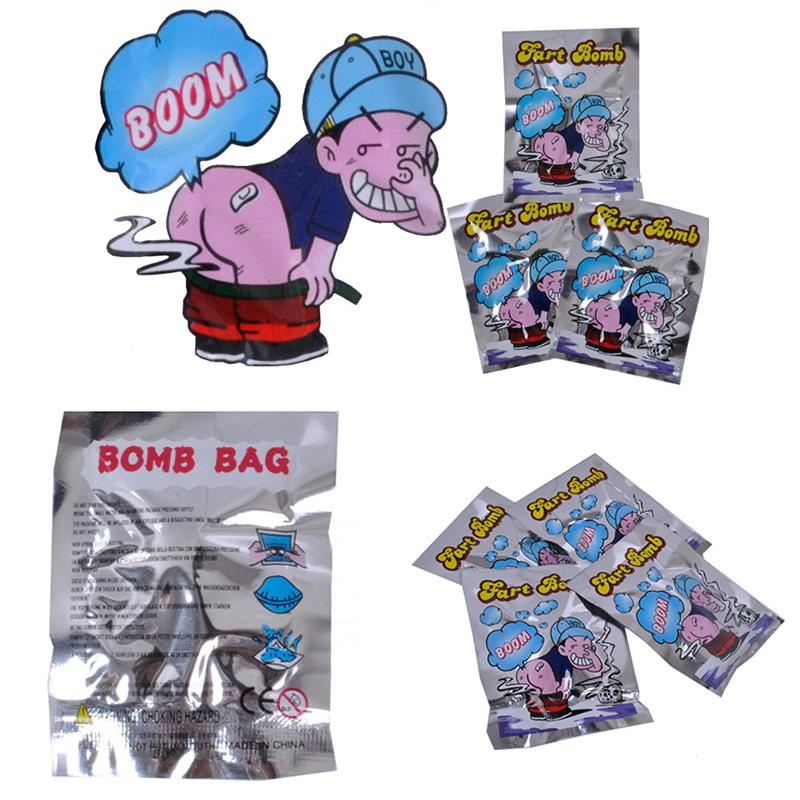 12pcs Novelty Fart Bomb Bags Stink Bomb Smelly Funny Gags Practical