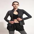 Women Quick Dry Sport Slim Jackets Long sleeved Sweatshirt Woman for Running Fitness Sport Zipper Fleece